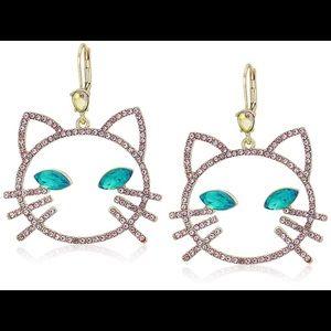 Betsey Johnson cat earrings.